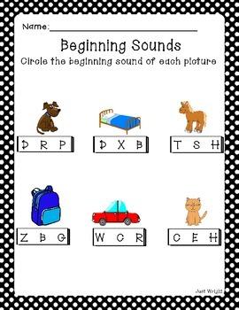 Beginning Sounds Printable Worksheet