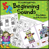 Beginning Sounds for Kindergarten * Printables and Center