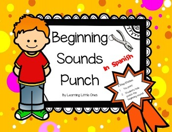 Beginning Sounds Punch in Spanish
