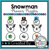 Beginning Sounds Puzzle- Snowman Theme