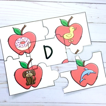 Beginning Sounds Puzzles (Apples)