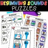 Beginning Sounds Puzzles Literacy Center Phonics Activity