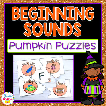 Beginning Sounds Puzzles (Pumpkins)