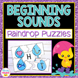 Beginning Sounds Puzzles (Raindrops)