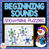Beginning Sounds Puzzles (Snowflakes)