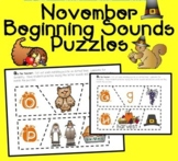 Beginning Sounds Puzzle Activity (November)