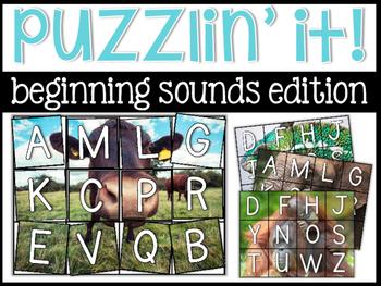 Beginning Sounds Puzzlin' It