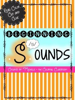 Beginning Sounds {Read, Color, Cut + Glue}