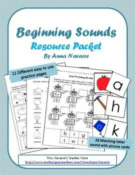 Beginning Sounds Resource Packet