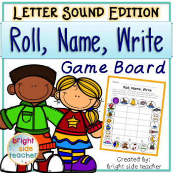 Beginning Sounds: Roll Name Write Game Boards