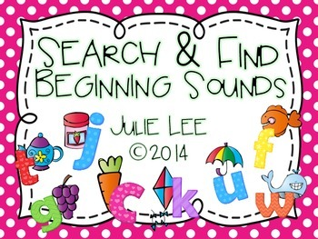 Beginning Sounds Search & Find