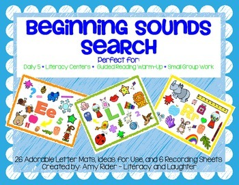 Beginning Sounds Search {I-Spy Alphabet Mats & Recording Sheets}