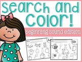 Beginning Sounds Search and Color