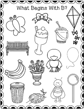 beginning sounds seek find and color by heather j tpt. Black Bedroom Furniture Sets. Home Design Ideas