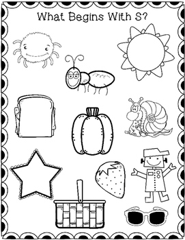 Beginning Sounds: Seek, Find, and Color