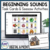 Beginning Sounds Seesaw Activities and Task Cards