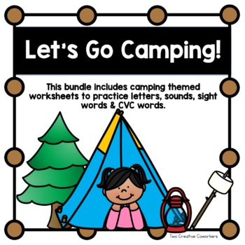 Beginning Sounds / Sight Words / Letter Matching Worksheets {Camping Themed}