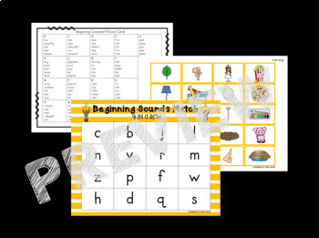 Beginning Sounds Small Group Intervention Games Edition
