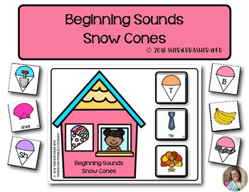 Beginning Sounds Snow Cones | Phonics | Literacy