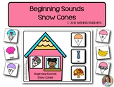 Beginning Sounds Snow Cones | Phonics | Literacy