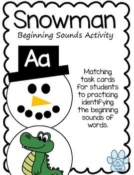 Beginning Sounds Snowman Building