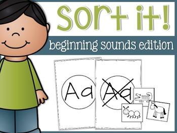 Beginning Sounds Sort A-Z Mats