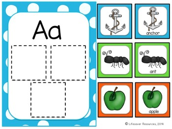 Beginning Sounds Sort - Literacy Centers - Concentration Game