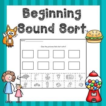 Beginning Sounds Activity Sort