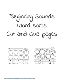 Beginning Sounds Sort Cut and Glue