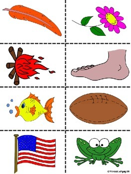 Beginning Sounds Sort - L and F