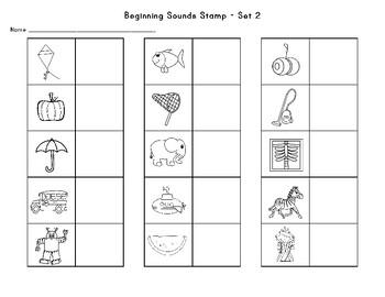 Beginning Sounds Sort- Recipe for Reading order