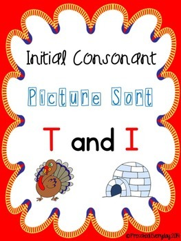 Beginning Sounds Sort - T and I
