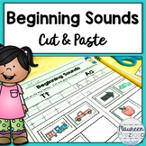 Beginning Sounds Worksheets Cut and Paste