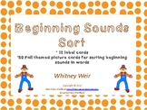 Beginning Sounds Sorting Cards
