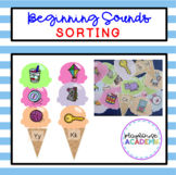 Beginning Sounds Sorting Ice Cream