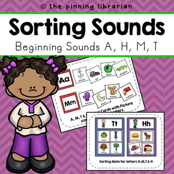 Beginning Sounds Sorting (Letters A, T, M, & H)