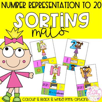 Number Representation Sorting Mats - Numbers 0-20