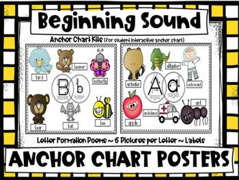 BUNDLED Beginning Sounds ACTIVITIES (centers-printables-sorts) CCSS