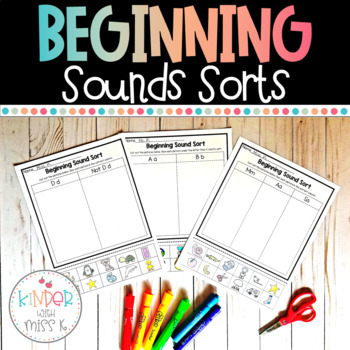 Beginning Sounds Sorting Pages