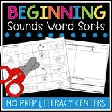 Beginning Sounds Word Sorts & Worksheets