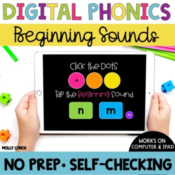 Beginning Sounds Sound Tappers - Digital Phonics Learning {PowerPoint Games}
