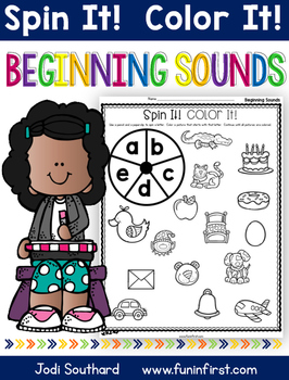 Beginning Sounds Spin It Color It