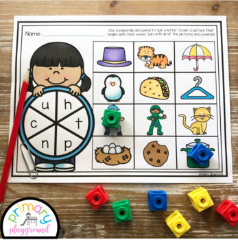 Beginning Sounds Spin and Cover