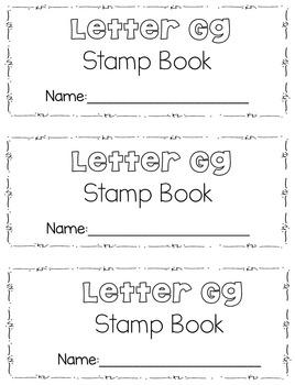 Beginning Sounds Stamp Books