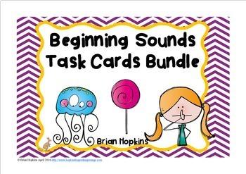 Beginning Sounds Task Card Bundle