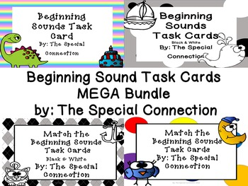 Beginning Sounds Task Card MEGA Bundle