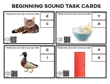 Beginning Sounds Task Cards