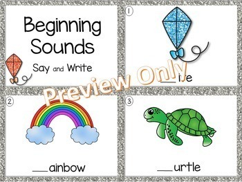 Beginning Sounds Center ~ Task Cards SCOOT