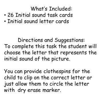 Initial Sounds--Phonemic Awareness