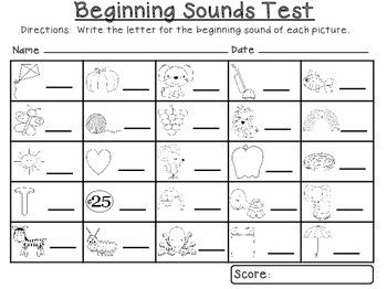 Beginning Sounds Test